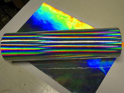 GOLD Longlife Rainbow Holographic Sign Vinyl 12 inch x 75 Feet Oil slick