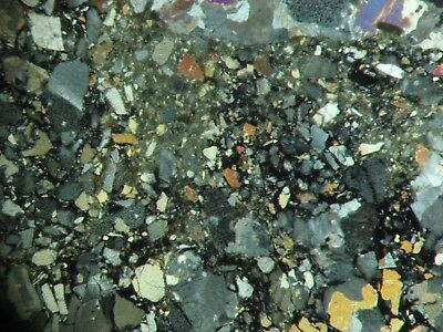 Gardnos meteorite impact breccia impactite THIN SECTION awesome POLARISING