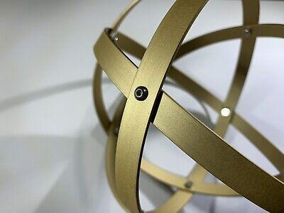 Genesa Crystal diametro 16 cm alluminio satinato oro profilo 1,2 cm 3