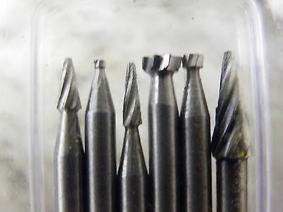 24Pc HSS Carving & Milling Burr Set Suit Dremel & Other Rotary Tools 3133  832 5