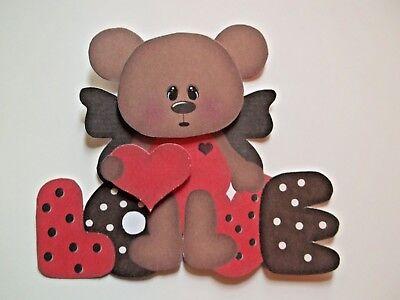 Love  Boy Girl Bear Heart Couple Card Paper Embellishment 3D U Pick
