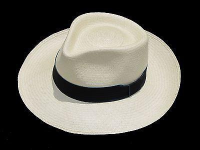 """Men Woman Straw Fedora Genuine Panama Hat from Montecristi /""""Havana/"""" fino fino"""