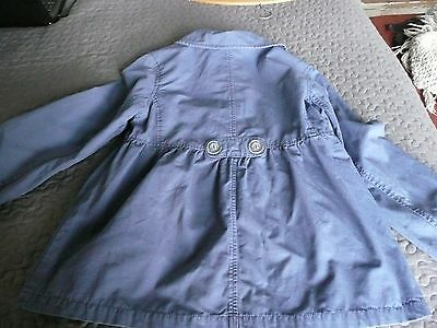 GAP Girls Washed Blue fully lined double breasted Swing Style jacket coat XL13 7