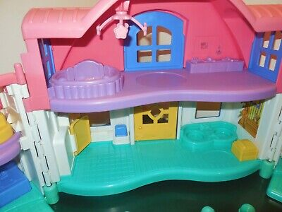 Fisher Price Little People Sweet Sound Dollhouse Cradle Family House Home Lot 6