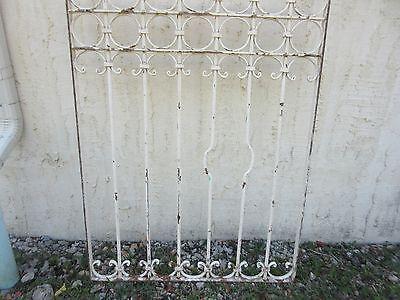 Antique Victorian Iron Gate Window Garden Fence Architectural Salvage #840 4