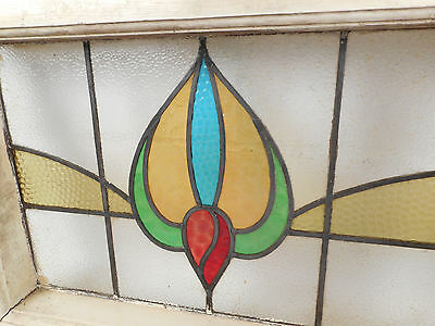 Vintage Stained Glass Window Panel (2785)NJ 4