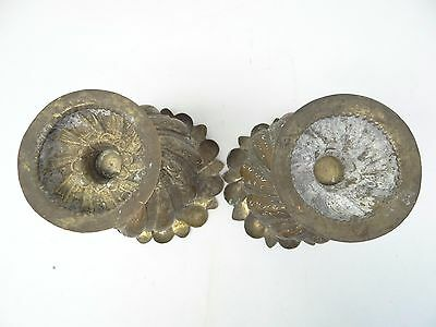 Antique Old Repoussé Hand Hammered Metal Copper Ornate Decorative Planters Urns 8