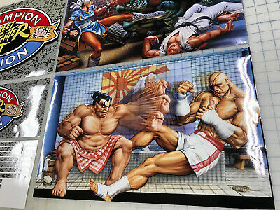Arcade1up Cabinet Riser Graphics - Street Fighter 2 II Graphic Sticker Decal Set 5