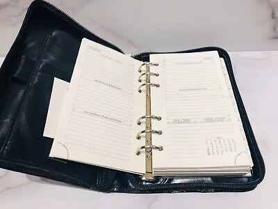 De Vecchi Dark Green Glossy Zip Around Address Book Planner Agenda 7