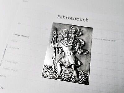 Heiliger Sankt St Christophorus 3D Relief Schild 7 cm zum anschrauben schrauben