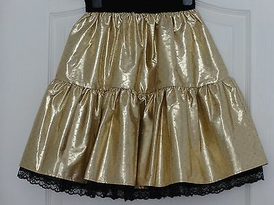 Girl's Metallic Gold Coloured Party Skirt, Fully-Lined, 11-14 Years 5