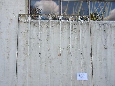 Antique Victorian Iron Gate Window Garden Fence Architectural Salvage #838 2