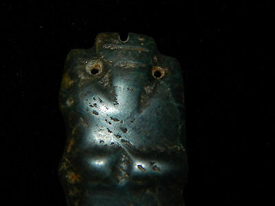 Pre-Columbian Ceremonial Jade Pendant, Anthropomorphic, Nicoya, Authentic 11