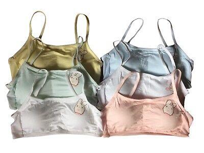 Teen Girls First Cotton Crop Top Bra, 2 Pack (Mixed Colour). Fit 9-16yrs. 4