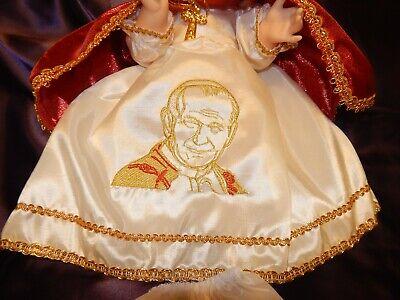 Nino Dios Baby Jesus Hermoso Vestido Del Papa Juan Pablo Ii Medidas En Cms 25 98 Picclick Uk