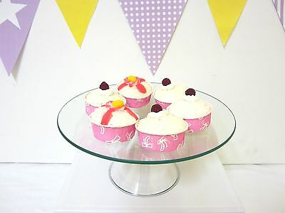 CLEARANCE- 2 for $20 MEDIUM Glass Cake Stand Cupcake stand Candy Lolly Buffet