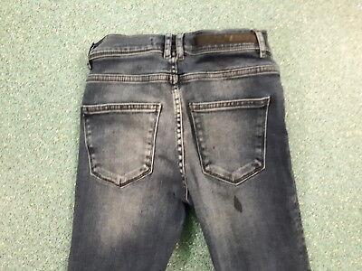 "Zara Man Skinny Jeans Waist 28"" Leg 28"" Faded Dark Blue Boys 12Yrs Jeans 4"