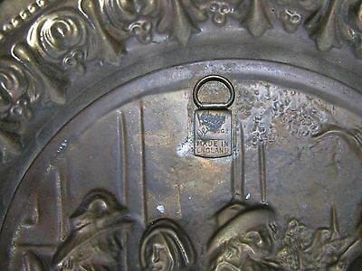 Vintage Peerage Brass Wall Plate Decor Made In England 12 6 71