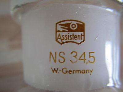 2 Stück Assistent Glas Gläser NS 34,5 W.Germany Normschliff 5