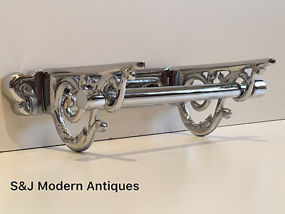 Victorian Toilet Roll Holder Chrome Vintage Edwardian Novelty Silver Nickel Old