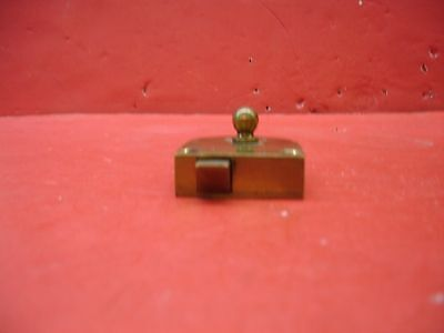 Vintage Antique Original Concealed Release Trigger Brass Latch Hardware 8