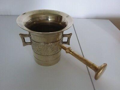 Antiker Apothekenmörser mit Pistill - BRONZE- 19.Jahrhundert / BIEDERMEIER 5