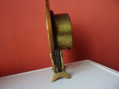 OLD WINTAGE  RETRO CLOCK Mid Century Orfac Pendulum Metal Table Mantle Clock 7