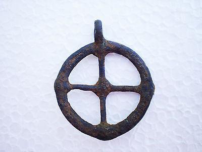 RARE ANCIENT Bronze Khazar Khanate PENDANT AMULET  7 - 9 century AD 2 • CAD $264.35