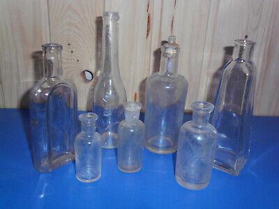 7 alte Apothekerglasflaschen - Drogistenflaschen 2