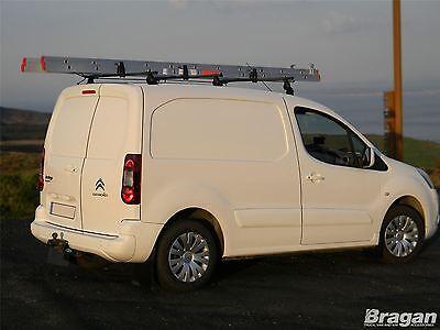 To Fit 2008+ Citroen Berlingo Solid Roof Rack Bars Rails 3 Bar Ladder System Set 4