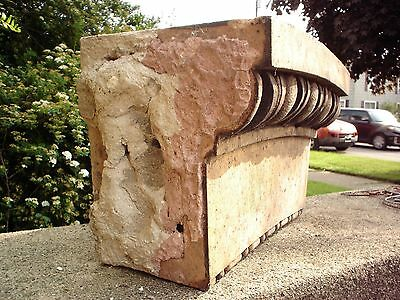 2 Terra Cotta Stones. Old Chicago Saint Boniface School. Architectural Salvage. 5