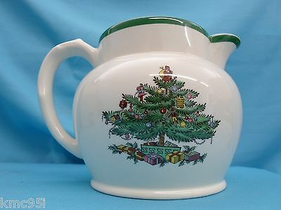 Spode Christmas Tree Water Sauce Jug 1-1/2 Pint with Original Box 6