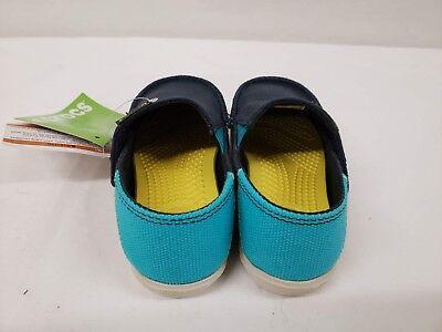 New Crocs Kids Santa Cruz Slip on Loafers 12//13 10//11 Navy Blue Size 8//9