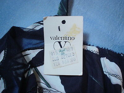 Vintage Valentino 2701 Bustier with Sheer Trim Size 34B in a Calla Lily Print 7
