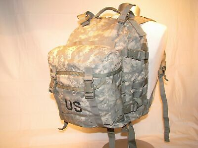 US ARMY ACU ASSAULT PACK 3 DAY MOLLE II BACKPACK w/ Stiffener VGC Made in USA 8