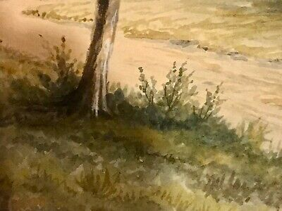 19th Century Framed Watercolor Pastoral Landscape Painting, Signed A.G.Gregory 5