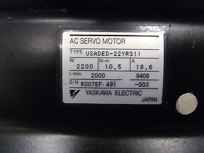 YASKAWA USADED-22YRS11 AC SERVO MOTOR 2200W WATT 2000RPM 2.2KW 2.2 KW