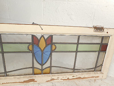 Vintage Stained Glass Window Panel (3255)NJ 4
