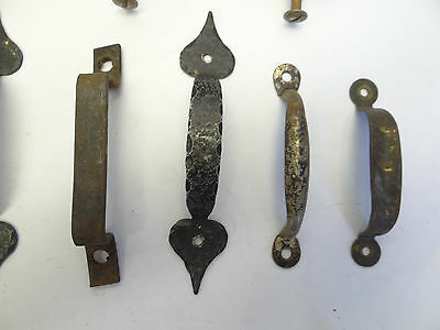 Antique Vintage Mixed Lot Wood Metal Iron Brass Cabinet Door Pulls Handles Parts 3