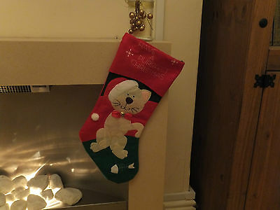 Cat Christmas Stocking Have A Purrfect Christmas  Cac 07 5