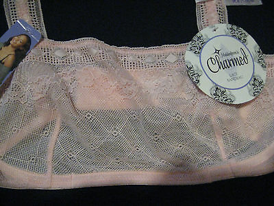 Maidenform/'s Charmed Lace Bandeau Bra Perfect for layering Pink Choose size NWT