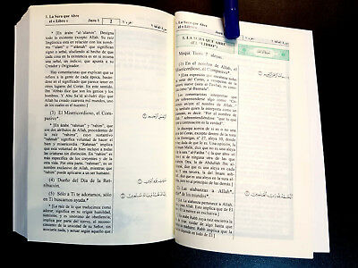 The Holy Quran  Koran. Arabic Text, Spanish Translation. King Fahad  Printing In 4