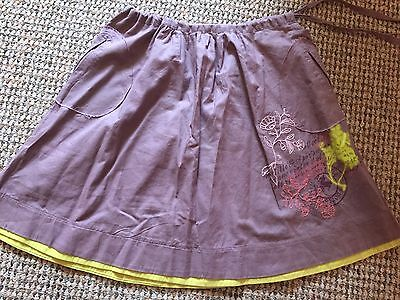 Captain Tortue Skirt Top Cardigan Outfit Set Mauve Lime Green Dusky Pink Age 6 7 2