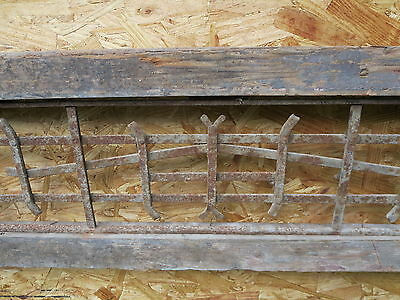 Antique Victorian Iron Gate Window Garden Fence Architectural Salvage Guard H 4