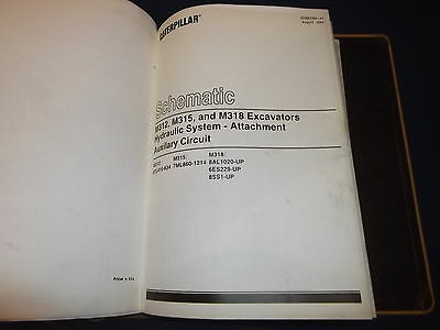 cat caterpillar m318 excavator service shop repair book manual s n rh picclick com Cat M322C Cat M315