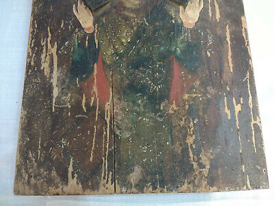 Antique Russian Icon Orthodox Christain Religious Large Icon USSR 44cm 5