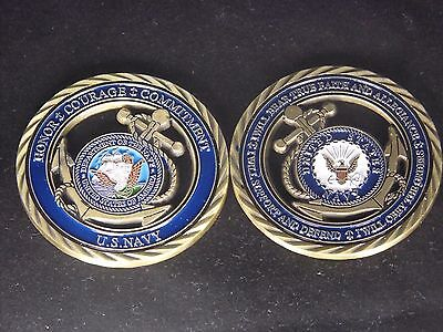U.S. Navy / Core Values - USN Challenge Coin Naval Collectible Sailor 8
