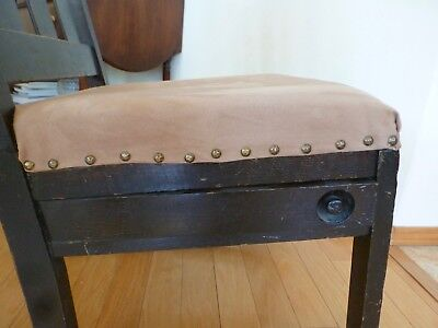 Rocking Chair with a Sewing Drawer, 1910, Craftsman style 6