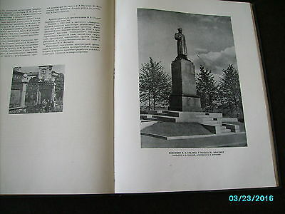 Rare  Russia 1953 Architecture Of Leningrad , Huge Illustrated Book 10