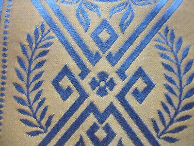 tissu ameublement damas soie et coton style Empire Lelievre 60x130